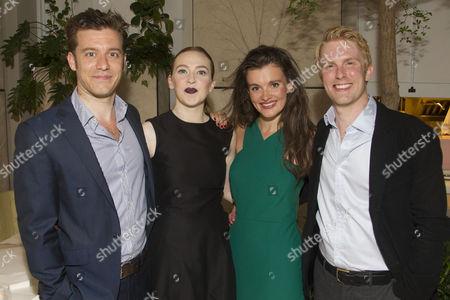 Philip Cumbus (Algernon Moncrieff), Imogen Doel (Cecily Cardew), Emily Barber (Gwendolen Fairfax) and Michael Benz (Jack Worthing)