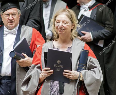Dame Hilary Mantel DBE after receiving honorary degree of Doctor of Letters.