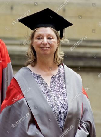 Dame Hilary Mantel arriving at Oxford University Encaenia to receive honorary degree.