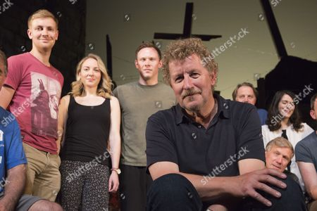 Author Sebastian Faulks (centre) joins the Birdsong cast as he takes a role in the play at Richmond Theatre. Birdsong, adapted from the Sebastian Faulks novel by Rachel Wagstaff, is performed at Richmond Theatre until 4 July 2015 which finishes the UK tour.