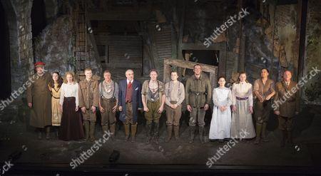 Curtain call with Sebastian Faulks far left