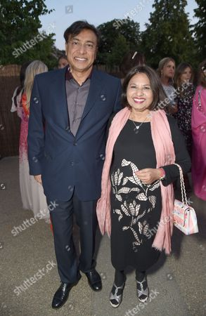 Stock Picture of Lakshmi Mittal and Usha Mittal