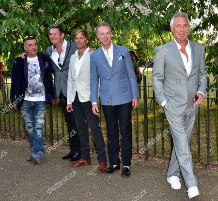 Stock Photo of John Keeble, Tony Hadley, Steve Norman, Gary Kemp, Martin Kemp, from Spandau Ballet