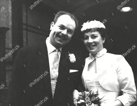 Stock Picture of Bobby Pratt 29-year-old Trumpeter With The Ted Heath Orchestra With His Bride Miss Christine Edwards After Their Wedding At Caxton Hall London. Box 0594 24062015 00361a.jpg.