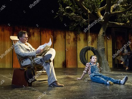 Stock Photo of Ava Potter as Scout, Robert Sean Leonard as Atticus