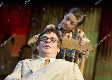 Stock Picture of Ava Potter as Scout, Robert Sean Leonard as Atticus
