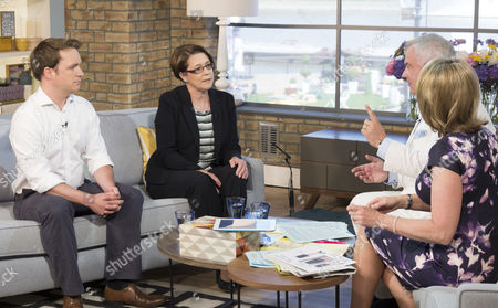 Richard Riddell and Rowena Blencowe with Eamonn Holmes and Ruth Langsford
