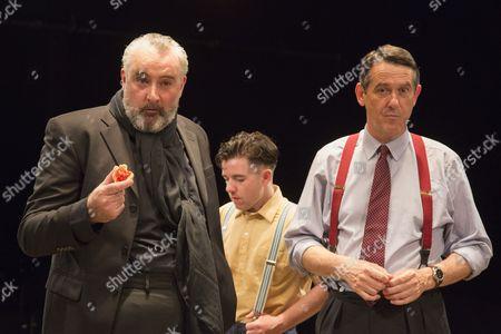 L-R: John Hodgkinson as Orson Welles, Ciaran O'Brien as Sean and Adrian Lukis as Laurence Olivier