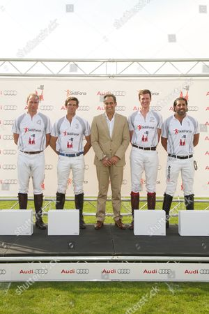 Stock Photo of Prince William, Malcolm Borwick Andre Konsbruck, Ben Vestey and Tommy Kato