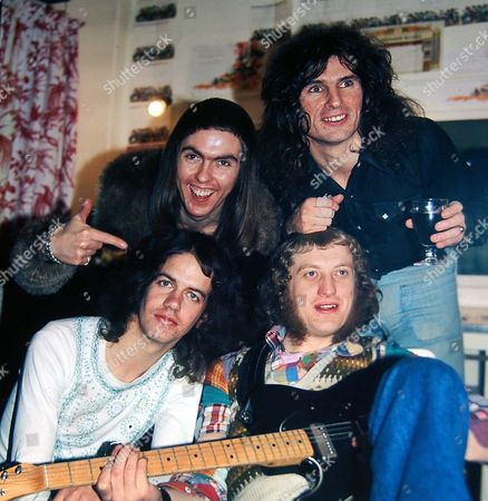 Slade - clockwise - Dave Hill, Don Powell, Noddy Holder and Jim Lea