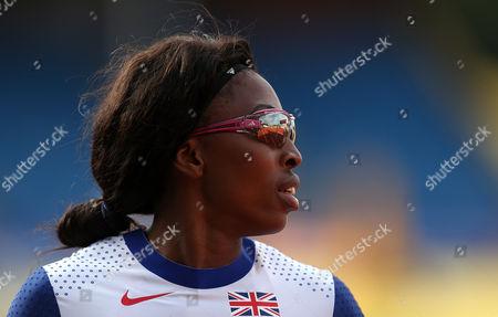 Great Britain Margaret Adeoye after winning her Women's 200m heats