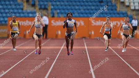 Great Britain Margaret Adeoye during her Women's 200m heats