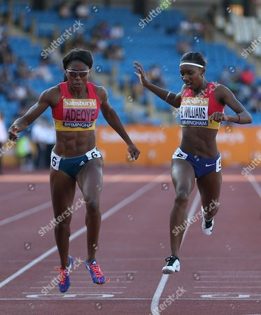 Great Britain Margaret Adeoye (L) wins as Bianca Williams 2nd in the Women's 200m final