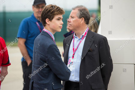 Viscount David Linley, Viscount David Linley (R) and son Charles Armstrong-Jones (L)