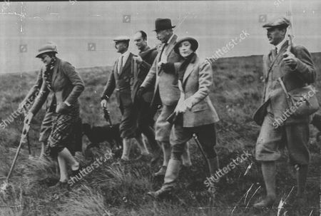 Grouse Shooting Party In The 1930's; Party Includes Lord Forrester The Marquess Of Tweeddale Sir John Buchanan Jardine And The Earl Of Lauderdale. Box 0595 25062015 00398a.jpg.