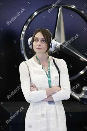 Anna Danshina, wife of Paddy Lowe (GBR, Mercedes AMG Petronas Formula One Team)