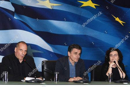 Editorial image of Change of leadership in the Greek Ministry of Finance, Athens, Greece - 06 Jul 2015