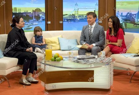 Gill Hicks and daughter with Ben Shephard and Susanna Reid
