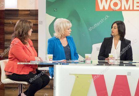 Stock Image of Coleen Nolan, Sherrie Hewson, Sara Khan, Jamelia and Janet Street-Porter.