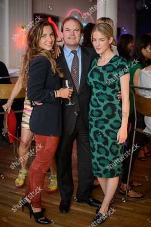 Stock Picture of Valentina Salmeri, Lord Harry Dalmeny and Penny Beer