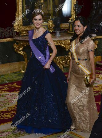 Queen Letizia and Nadine Heredia