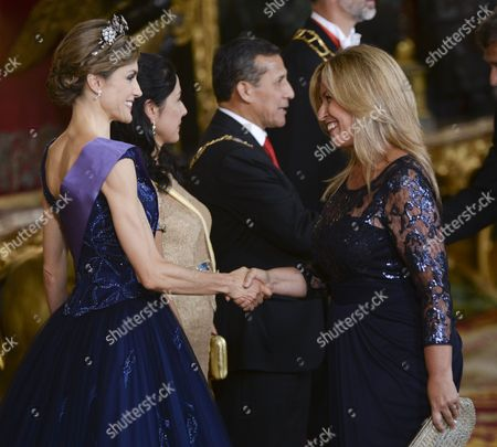 Stock Photo of Queen Letizia and Trinidad Jimenez