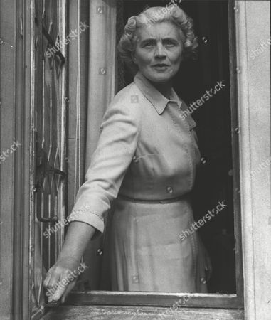 Stock Image of Mrs Peter Beck Wife Of The Co-headmaster Of Cheam School The Prep School Which Prince Charles Is To Attend. Box 0597 25062015 00065a.jpg.