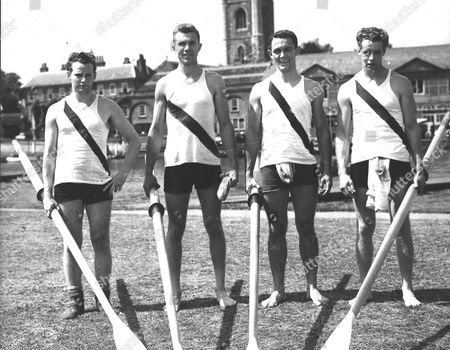 Stock Picture of Canadian Rowing Team From Brookville Canada. (l-r) J. F. Rooney A. C. Mcbratney M. T. Cody And D. J. Rooney. Box 0593 24062015 00078a.jpg.