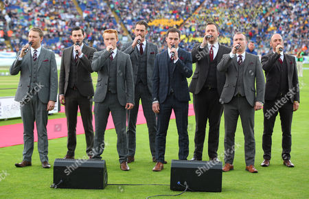 Only Men Aloud perform during the opening ceremony