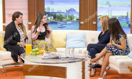 Candice and Stacie Pridden with Kate Garraway and Susanna Reid