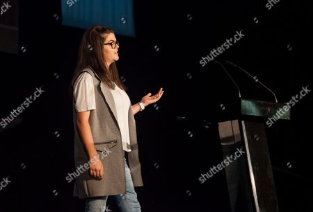 Editorial picture of President of NUS Megan Dunn delivers speech, Bolton, Britain - 08 Jul 2015