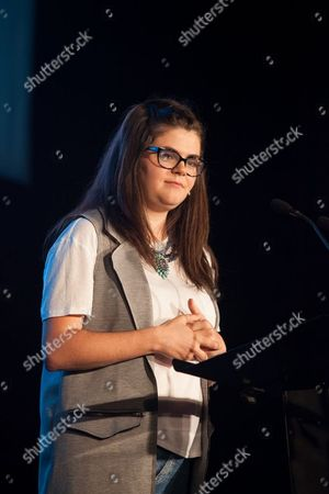 Editorial image of President of NUS Megan Dunn delivers speech, Bolton, Britain - 08 Jul 2015