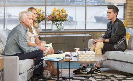 Phillip Schofield and Amanda Holden with Joe Pugh