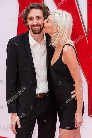 Stock Image of Comedian Eric Lampaert with his wife Jordan Dwayne