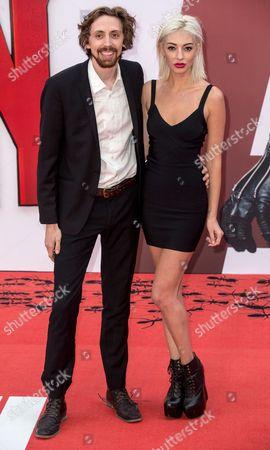 Stock Photo of Comedian Eric Lampaert with his wife Jordan Dwayne