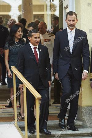 King Felipe VI and Peruvian President Ollanta Humala Tasso