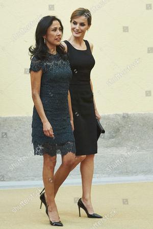 Queen Letizia and Nadine Heredia Alarcon