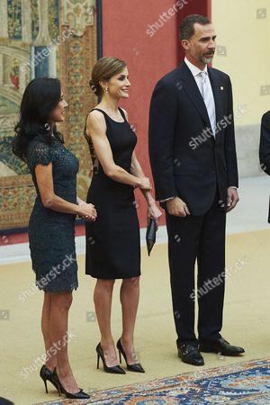 King Felipe VI, Queen Letizia, and Nadine Heredia Alarcon