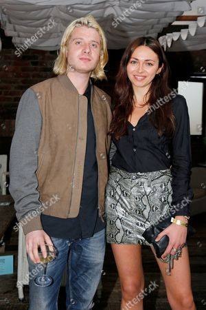 Stock Picture of Dominic Jones and Victoria Hatcher