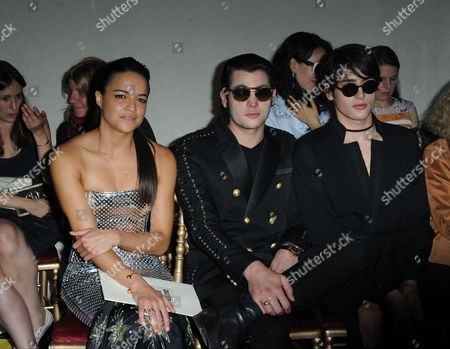 Michelle Rodriguez, Harry Brant and Peter Brant