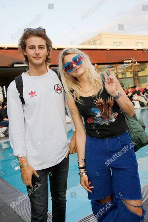 Phoebe-Lettice Thompson with brother