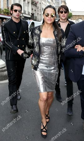 Michelle Rodriguez with Peter Brant and Harry Brant
