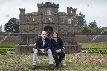 'T in the Park' founder Geoff Ellis and Anna Roberts, who owns the castle and co-owns the estate