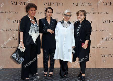 Carla Fendi, Delfina Fendi, Anna Fendi, Silvia Venturini Fendi