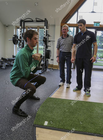 Jack Berry House Brian Toomey working on Sqwats whilst being coached by Tom O'Ryan and IJF strength and conditioning coach Danny Hague