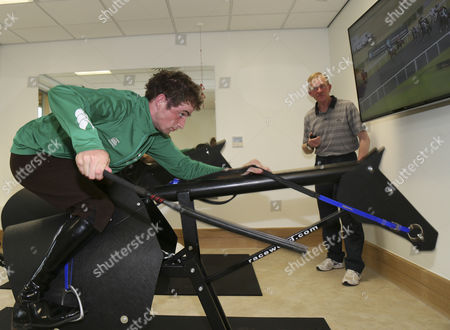 Jack Berry House Brian Toomey using equizer being coached by Tom O'Ryan using live race streaming.