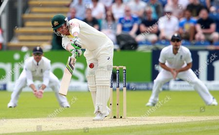Brad Haddin of Australia batting.