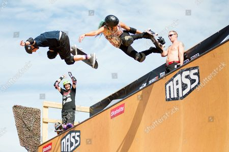 Stock Image of Tony Hawk and Lizzie Armanto