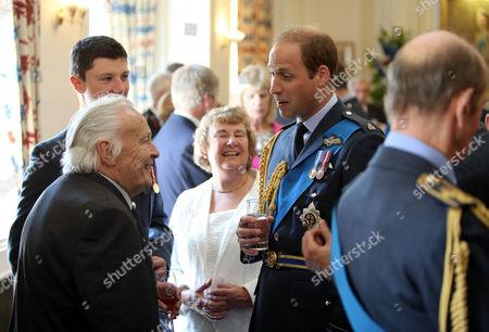 Prince William meets veteran pilot Geoffrey Wellum (left)