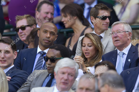 Thierry Henry and wife Andrea Rajacic in the Royal Box